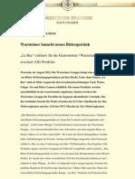 Pressemitteilung von Warsteiner // Le Roc