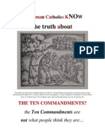 Do RCs Know About the TWO SETS of The 10 Commandments?