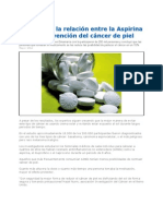 Investigan Relacion Aspirina vs Prevencion Del Cancer de Piel