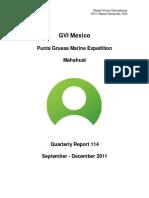 GVI Mexico Punta Gruesa September-December 2011 and 2008-2011 Summary Report