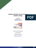 BlackBerry PlayBook Security - Part Two - BlackBerry Bridge