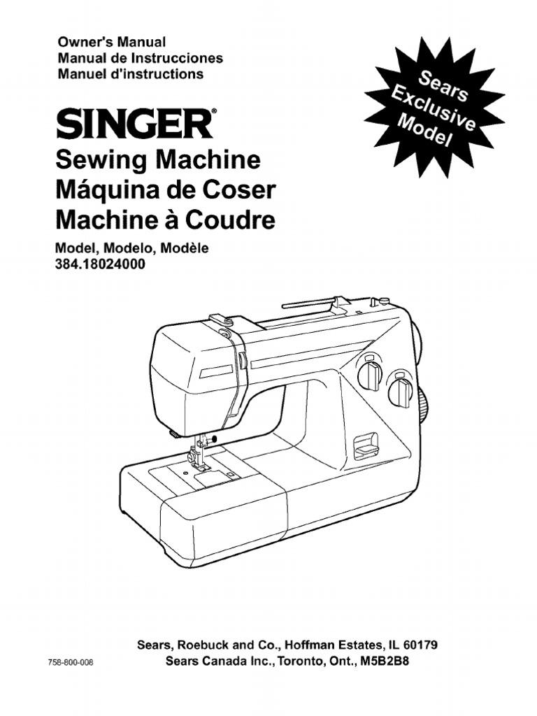 Singer Manual 384.18024000 | Textile Arts | Clothing