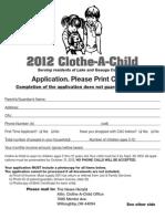 2012 Clothe-A-Child Application