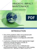 Environmental Impact of Maintenance