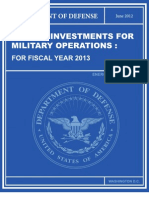 Energy Investments for Military Operations
