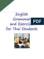 English Grammar & Exercises for Thai Students - 276p