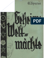 Ipares, S. - Geheime Weltmaechte - Eine Abhandlung Ueber Die Innere Regierung Der Welt (1936, 57 S., Scan-Text, Fraktur)