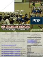2013 BSN Showcase Sponsorship