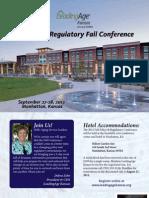 LeadingAge Kansas - Policy & Regulatory Fall Conference 2012