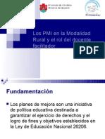 El PMI en La Modalidad Rural y El Rol Del Docente Facilitador