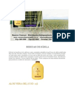 Productos Unicos de Aloe Vera Calidad y Excelencia 2012