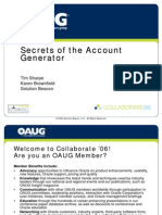 Secrets of the Account Generator