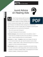 Sound Advice on Hearing Aids