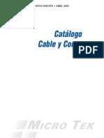 Catalo de Tipos de Cable Coaxil
