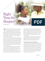 When  Is the  Right  Time for  Hospice?