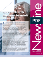 Improving the Quality of Life for Patients with Advanced Dementia