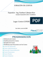 Elaboracion Costos 2009