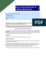 Comprobacion Experimental de La Ley de Stefan-Bolzmann
