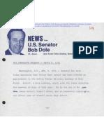 242. Victor Earl Schoof nominted for Service Academy by US Senator Bob Dole.