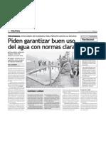 Noticia Agua El Peruano