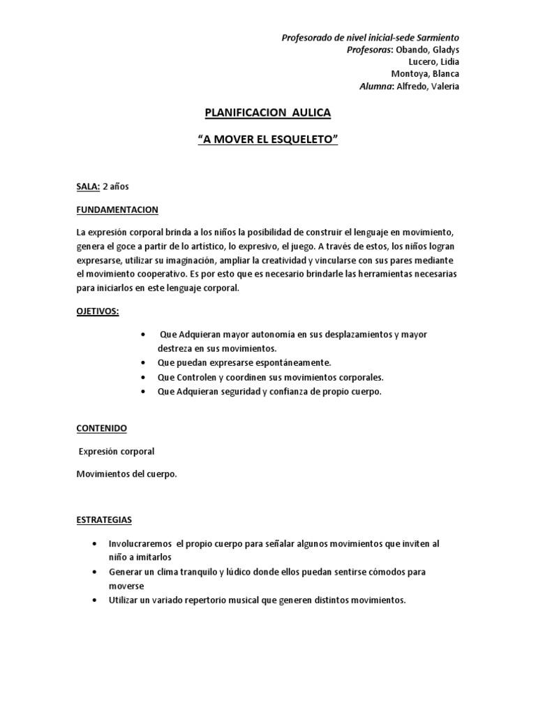 planificacion para jardin maternal sala de 3