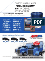 Diesel fuel effiececy with the use of AMSOIL motor oil and gear oil