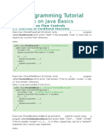 Java Programming Tutorial