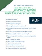 12 Tenses Practice Questions 07 13 12