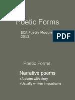 Poetic Forms Narrative Poem 2012