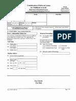 Form I-821D for Deferred Action Application