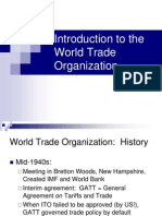 WTO - An Introduction