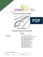 Guía de Prácticas de Biología Celular y Molecular 2012 - Medicina USMP Filial Norte