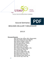 Guía de Seminarios de Biología Celular y Molecular 2012 - Medicina USMP Filial Norte