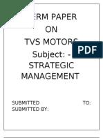 Tvs Motors Bcg Matrix and Ansoff Matrix