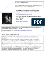 Into the Future a Comment on Agrell and Warner(Omand)