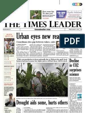 Times Leader 08-17-2012 | Bashar Al Assad | Mitt Romney