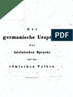 Jaekel, Ernst - Der Germanische Ursprung Der Lateinischen Sprache Und Des Roemischen Volkes (1830, 264 S., Scan)