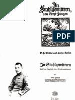 Juenger, Ernst - In Stahlgewittern (1922, 130 S., Scan, Fraktur)