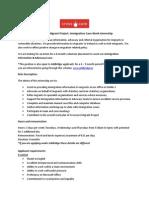 Crosscare Migrant Project Immigration Case Work Internship 08 2012