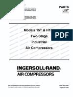 Compressor - Ingersoll-Rand Owner's Manual (15T) | Belt ... on