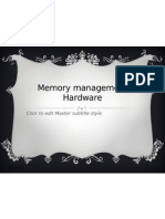 Hardware Memory Management