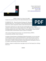 Sample Week 3 Condom Crew Press Release