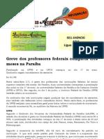 Greve dos professores federais completa três meses na Paraíba
