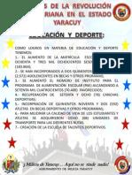Logros de La Revolucion en El Estado Yaracuy