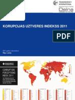 Korupcijas Uztveres Indekss 2011 - prezentācija