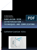 Subclavian vein catheterisation – techniques and complicatons