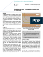 Abaqus/Standard Coupled Simulation of Thermally Assisted Gravity Drainage of an Oil Sand Formation 2012