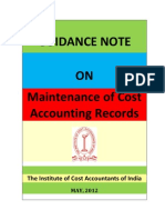 Guidance Note on Maintenance of Cost Accounting Records 18-5-2012