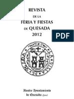 Revista Feria  y Fiestas de Quesada 2012