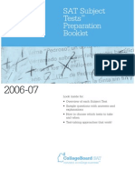 2006 07 SAT Subject Tests Preparation Booklet